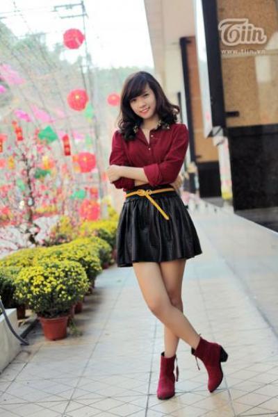 Ngắm teen girl Thanh Hương trong bộ ảnh căng tràn sắc xuân